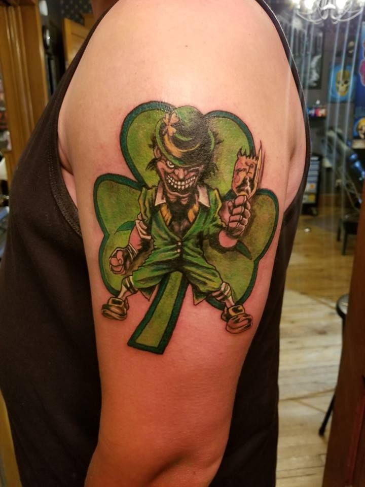 Irish Shamrock Scary Leprechaun Tattoo Notre Dame Tattoo Ideas