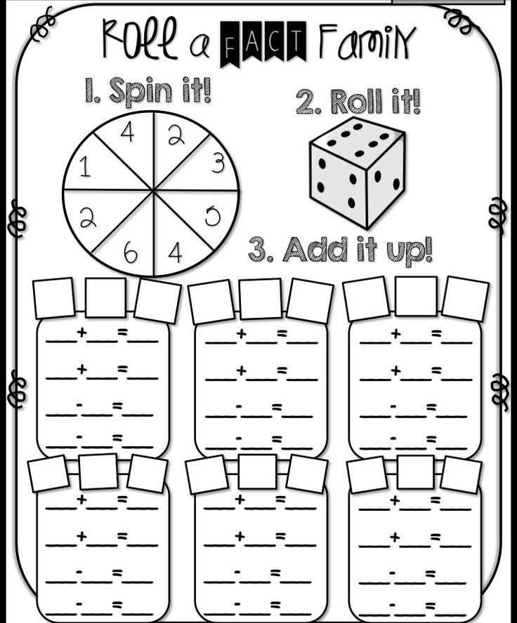 Fact Family Math Worksheets Worksheets Fact Multiplication Facts – Math Family Facts Worksheets