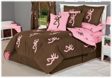 Browning® Buckmark Reversible Pink and Brown Bedding Collection | Bass Pro Shops - Comforter set I'm getting for my dorm room I think