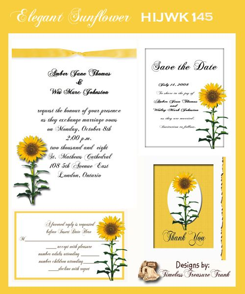 155 best Wedding Invitations images – Sunflower Wedding Invitations Kits