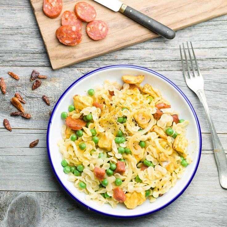 Découvrez la recette One pot pasta façon paella sur cuisineactuelle.fr.