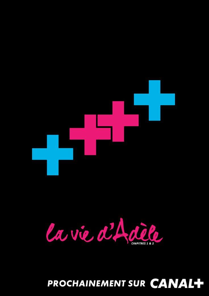 """Cinéma : la campagne print de Canal+  BETC signe une campagne minimaliste, marquée par l'utilisation du """"+"""". http://www.artofteasing.fr/article/20140513-cinema-campagne-print-canal/"""