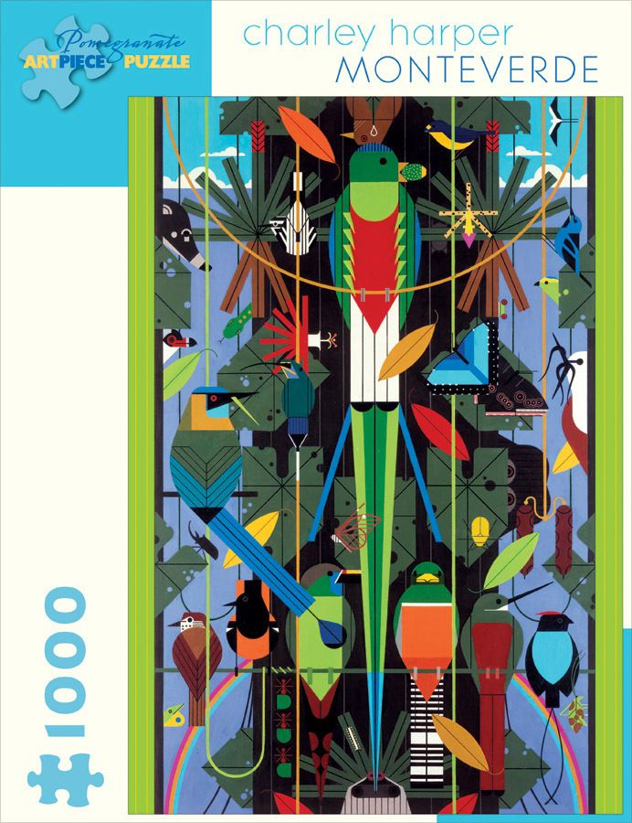 Charley Harper: Monteverde - 1000pc Jigsaw Puzzle by