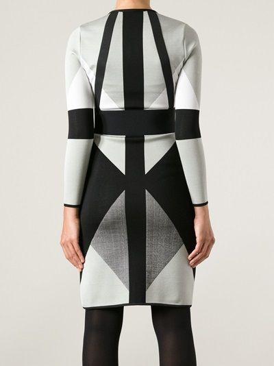 OCTAVIO PIZARRO tricolour dress $1300.61
