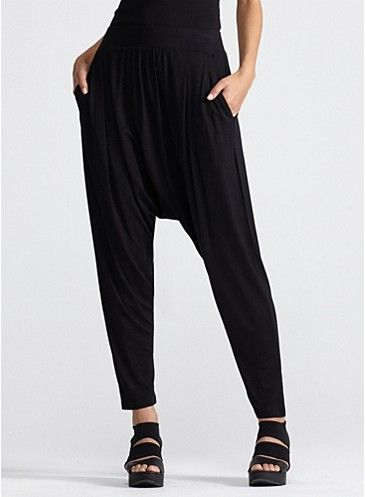 If you pair them with the right outfit, you'll find you can wear your harem pants running errands, to a business meeting, and off to meet friends for drinks. Because they're loose-ish, and often have a drawstring, you'll also be able to sit down and really enjoy a big meal.