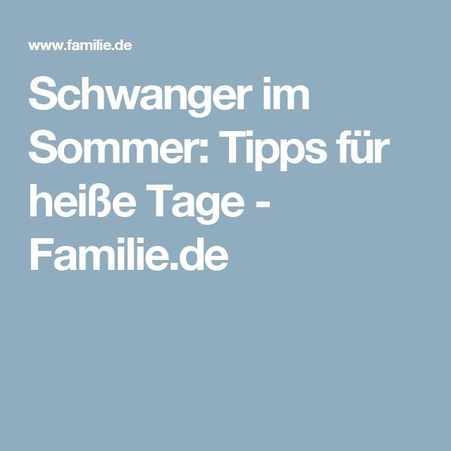 Schwanger im Sommer: Tipps für heiße Tage - Familie.de