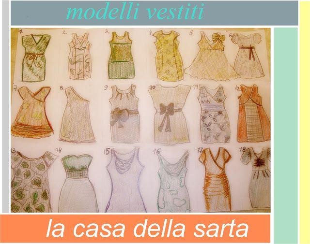 la casa della sarta: Modelli vestiti, confezioni su misura