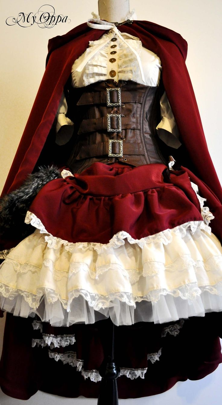 Little red riding hood steampunk dress by My Oppa