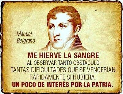 Manuel Belgrano, uno de nuestros grandes próceres, creador de nuestra bandera.