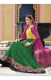 DESI LIBAS MUMBAI SALE  Sale on designer Indian clothes http://www.desilibasmumbai.com https://www.facebook.com/pages/Desi-Libas-Mumbai/482985541794027 Asmira : Yellow and green Anarkali  Georgette shirt  Chiffon dupatta Santon Bottom  Embroidered