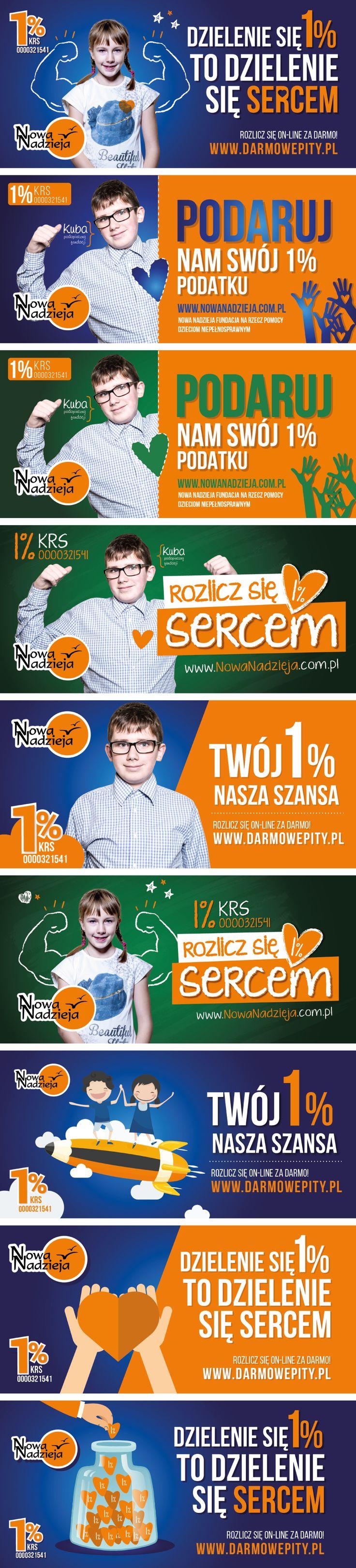 Projekty billboardów dla Fundacji Nowa Nadzieja- 1%