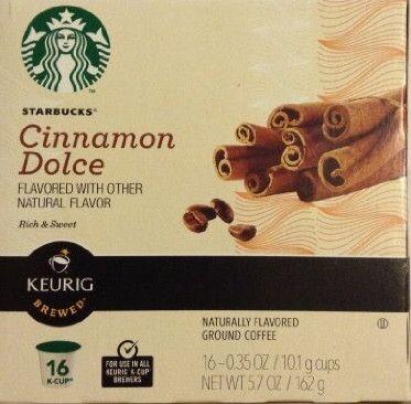 Starbucks Cinnamon Dolce Coffee K-Cups (16 K-Cups) Starbucks coffee for Keurig systems
