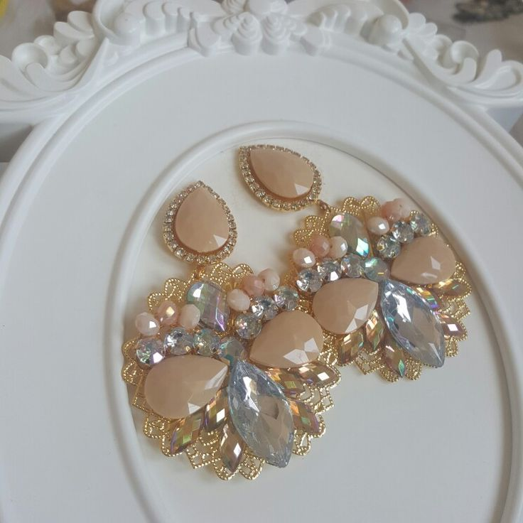 Earnings cappuccino  by valentina, handmade
