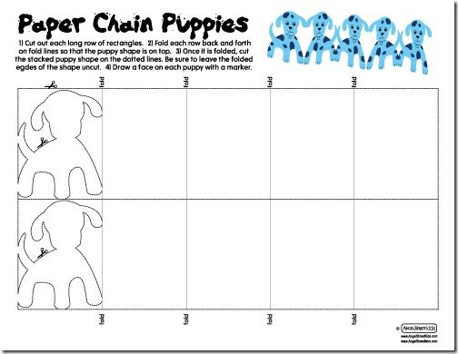 paper chain puppies crafts cat dog theme pinterest paper
