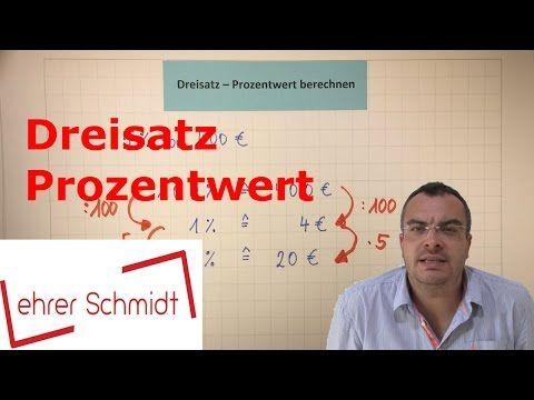 Prozentsatz berechnen (mit Formel) | Prozentrechnung | Mathematik - YouTube
