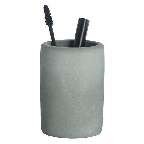 Housedoctor Tandenborstel houder cement grijs ø7,6xh11,3cm