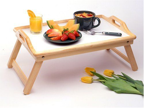Bed Desk / Tray Beechwood Finish by TDM. $30.96. Breakfast Bed Tray with Handle, Foldable Legs.