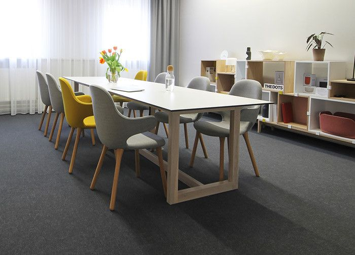 PeckaDesign & DesignVille meeting room: Stacked Shelf system by Muuto.