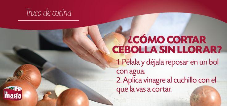 #TrucodeCocina: ¿Cómo cortar #cebolla sin llorar? Todos los consejos, en nuestro blog.
