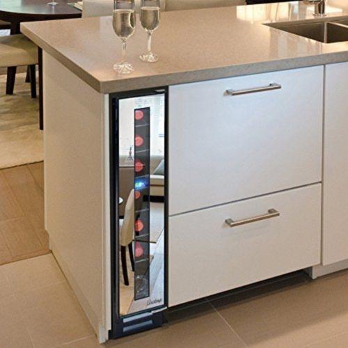 Vinotemp-7-Bottle-Mirrored-Wine-Cooler-VT7BMSLFE-Wine-Refrigerator-NEW