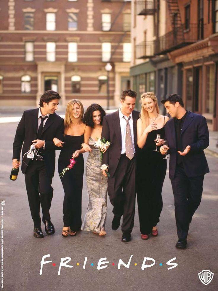 Friends (1994) de David Crane y Marta Kauffman (http://ultracuerpos.com/fichas/friends-1994-david-crane-marta-kauffman/) #serie #poster #comedia