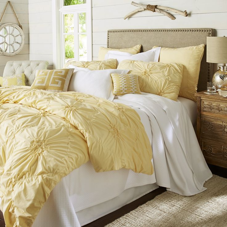 Savannah Duvet Cover Amp Sham Yellow Cotton Bedding