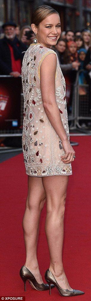 It's a mod world: The actress showed off a bit of 1960s glamour as she hit the red carpet on Sunday