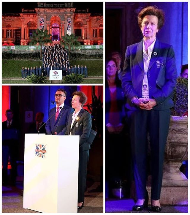 Princess Anne was accompanied by Sebastian Coe at the Team GB British House Reception in Rio de Janeiro on August 3 2016.