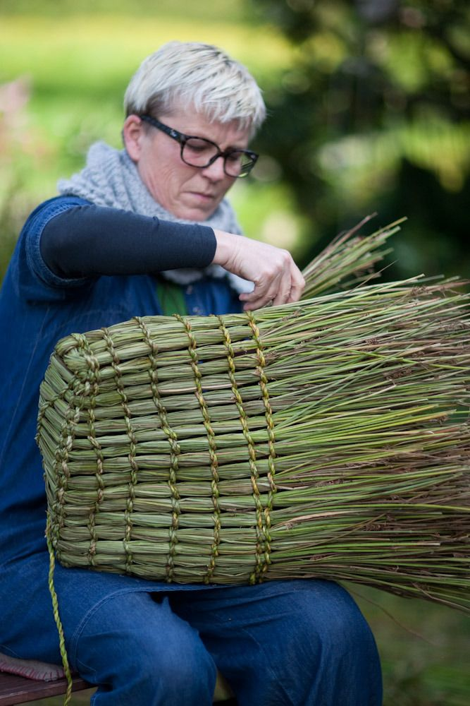 Tim Johnson - Basketmaking - Rush and Grass Basketry Course, Søre Skogen, Norway 2012