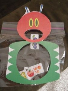 zip lock baggies for The Very Hungry Caterpillar