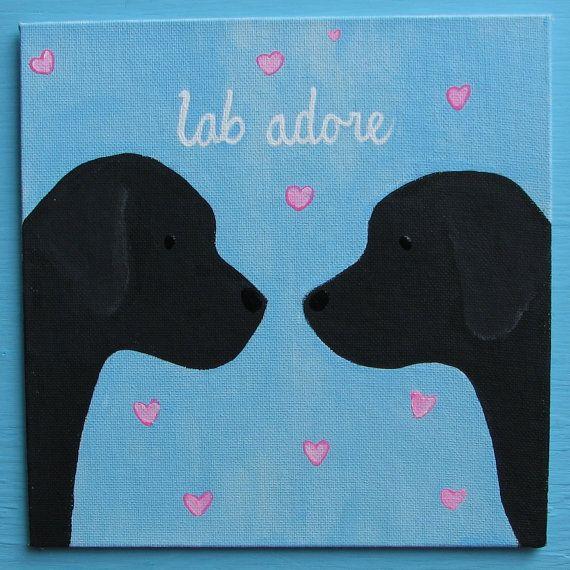 SALE Black Labrador Retriever Puppy Dog LOVE Lab door art4milkbones