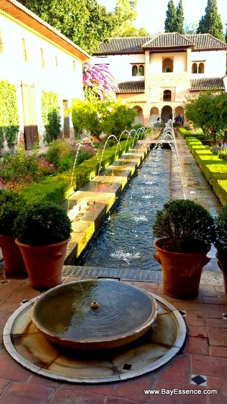 The Gardens of the General Life in the Alhambra complex | Granada, Spain | www.bayessence.com