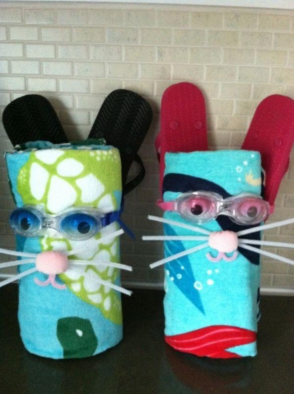 Beach Bunny: Beach towel, Goggles or Sun Glasses, Flip Flops, Sunscreen