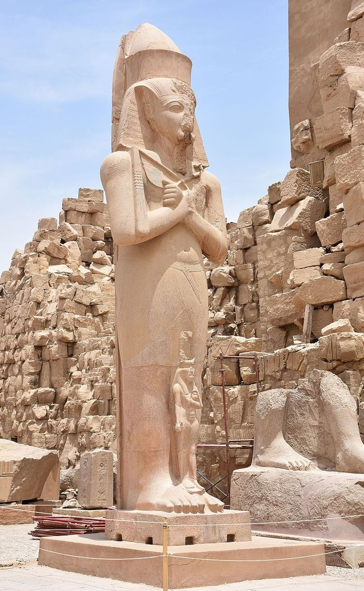 Statue of Ramesses II in Karnak Temple in Luxor Egypt - Karnak - Wikipedia, the free encyclopedia