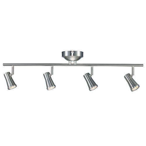 Robbins Brushed Nickel Four-Light LED Track Light