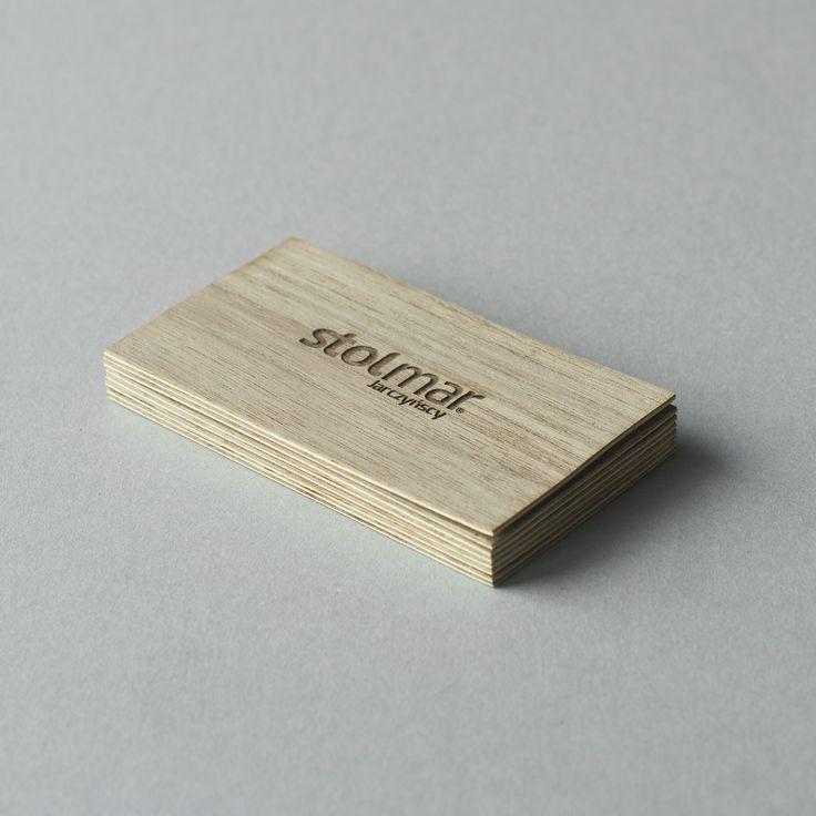 wood business card   drewniane wizytówka