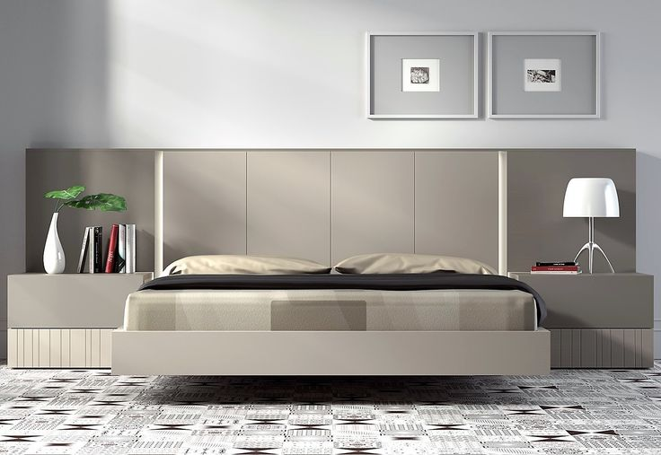 Guardia - IRIS Modern Minimalist Bed in Lacquer / Wood Veneer - Head2Bed UK