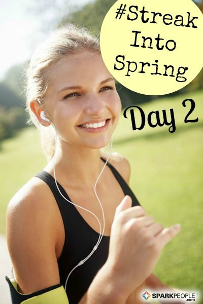 Happy Sunday, all :) Welcome to Day 2 of #StreakIntoSpring! Your challenge today is to GET OUTSIDE for at least a portion of your #fitness minutes. Sunshine helps produce vitamin D and can even improve your mood--whether or not it's hidden behind clouds! What's the weather like in your neck of the woods? | via @SparkPeople #fitness #challenge #exercise #health #wellness #reachyourgoals
