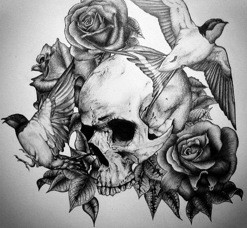 Download Free Black And Grey Skull Tattoo Flash 40  black and white tattoo designs to use and take to your artist.