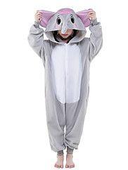 Kigurumi+Pajamas+New+Cosplay®+Elephant+Leotard/Onesie+Festival/Holiday+Animal+Sleepwear+Halloween+Gray+Solid+Polar+Fleece+Kigurumi+For+Kid+–+USD+$+40.99