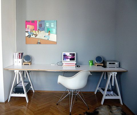 Working Desk Home Pinterest Desks Office Spaces And