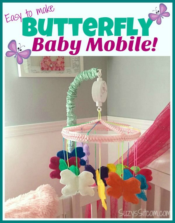 Easy to make Butterfly Baby Mobile!