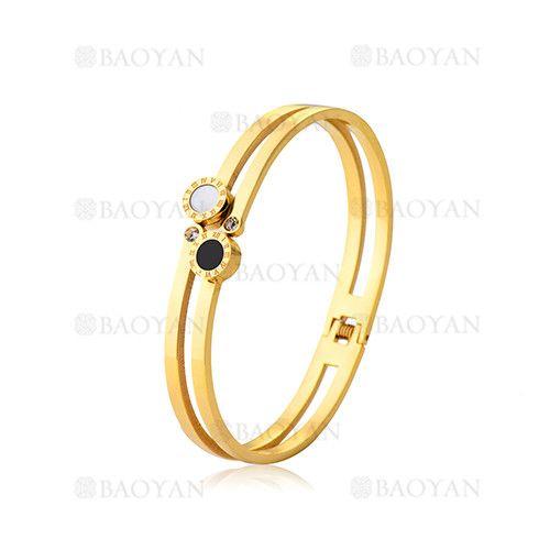 pulseras de moda con numero romano de dorado en acero inoxidable-SSBTG804642