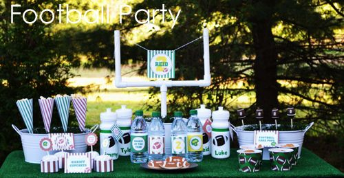Football Tailgate Party - A Blissful Nest   #football #tailgate #superbowl