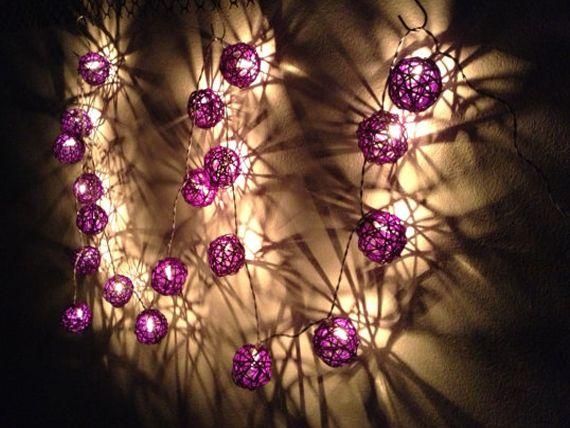 АА Батарейках 1 м ~ 3 м Фиолетовый 4 СМ Ротанга Праздник Рождества Христова Свадьба Украшения СВЕТОДИОДОВ Строка Фея огни Ламп