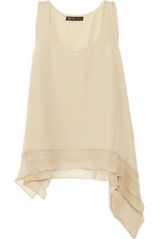Elizabeth and James  Adrienne silk-crepe top: Silk Top, Shirt