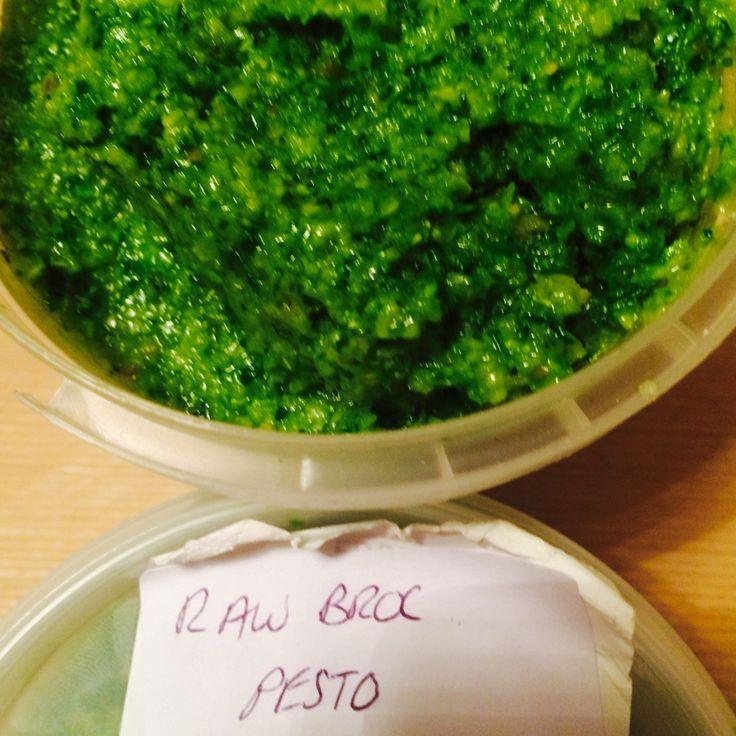 Raw broccoli and courgette pesto