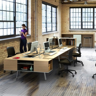 LOVE this Steelcase Bivi Office Workstation for Four.  It's a great value at AllModern.