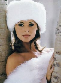 Have servers wear all white with Russian fur hats