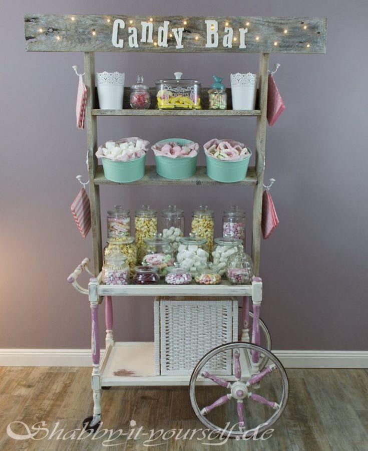 Vintage Shabby Chic Candy Bar Hochzeit Wedding 38